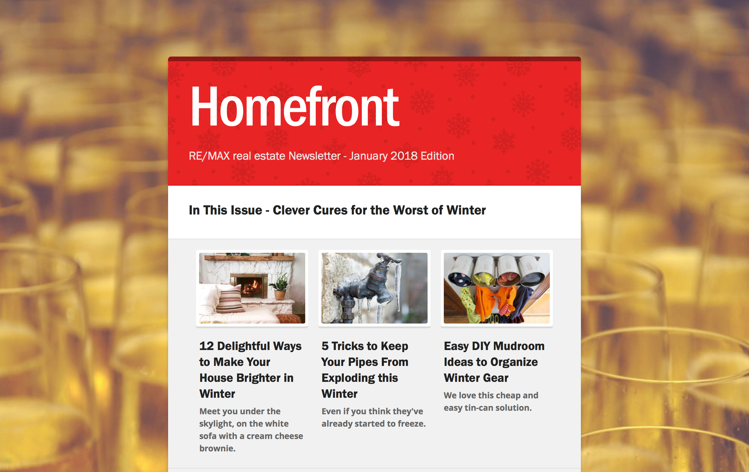 Homefront Newsletter