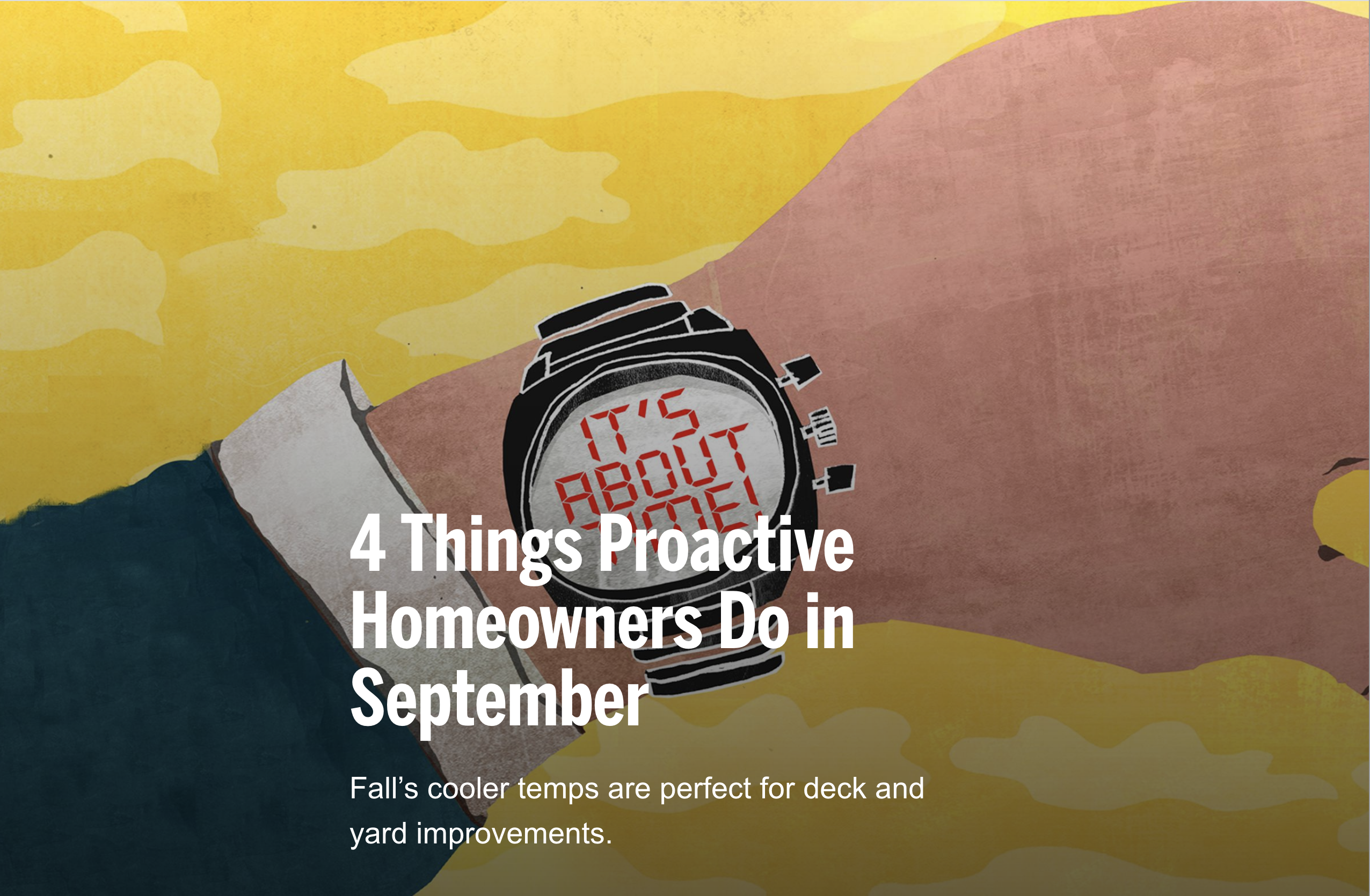 Things to do in September