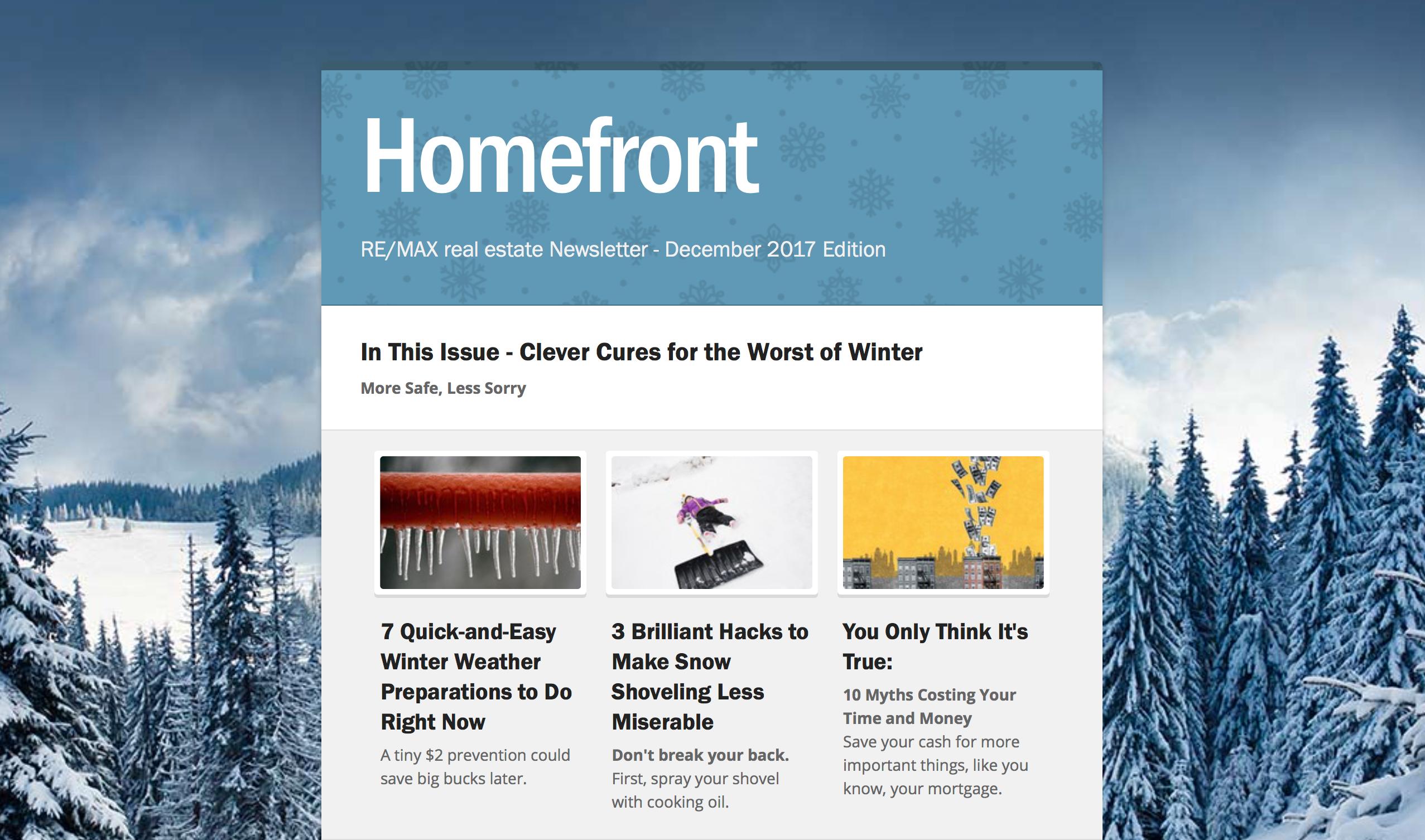 Homefront Newsletter